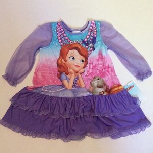 "Disney ""Sofia the First"" Purple Nightgown 2T"